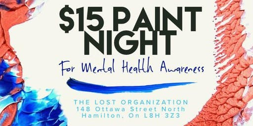 $15 Paint Night for Mental Health Awareness