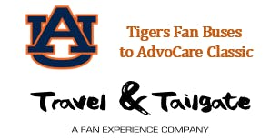 Auburn Tigers Fan Bus to AT&T Stadium & Tailgates - 2019 Advocare Classic
