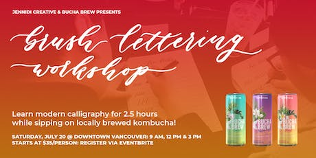 [POP-UP] BRUSH LETTERING CALLIGRAPHY x KOMBUCHA Workshops tickets