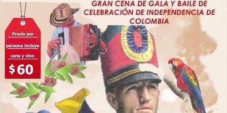 Fiestas Patrias Colombianas - Cena de Gala y  Celebracion de Independencia tickets