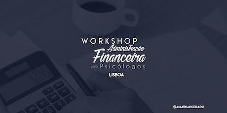 Workshop Administração Financeira para Psicólogos bilhetes