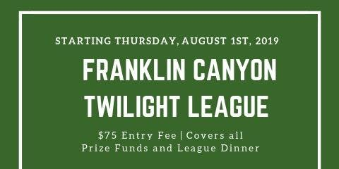 Twilight League at Franklin Canyon Golf Course