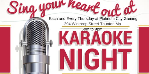 Pcg presents Karaoke each & every thursday