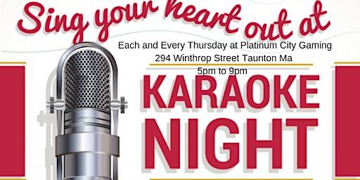 Pcg presents Karaoke each & every thursday