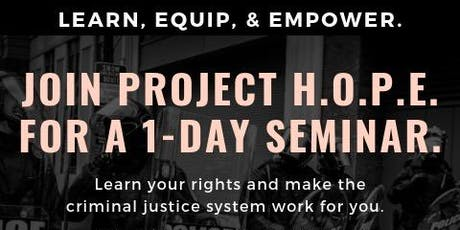 Learn. Empower. Equip: Know Your Rights! tickets
