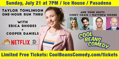 FREE! Taylor Tomlinson, Erica Rhodes - Cool Beans Comedy! tickets