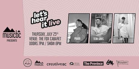 Let's Hear It! Concert Series - Showcase #6 tickets