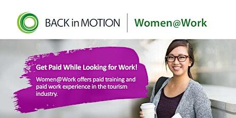 Women@Work Tourism Program Info Session -  Vancouver tickets
