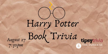 Harry Potter Book Trivia - Aug 27, 7:30pm - Taphouse Guildford tickets