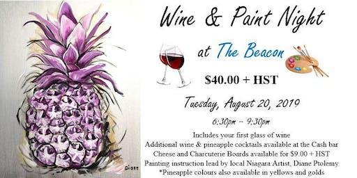 Wine & Paint Night at The Beacon (Aug 20)