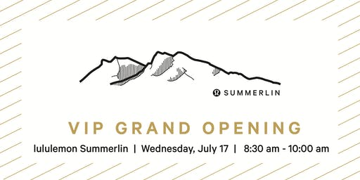 Downtown Summerlin lululemon VIP Sneak Peak