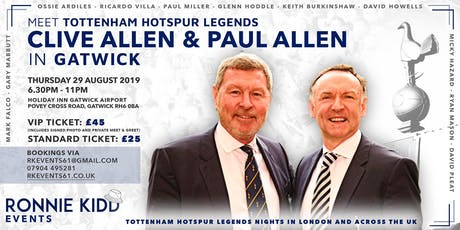 An Evening Spurs Legends Clive and Paul Allen tickets