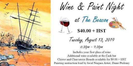 Wine & Paint Night at The Beacon (Aug 13)
