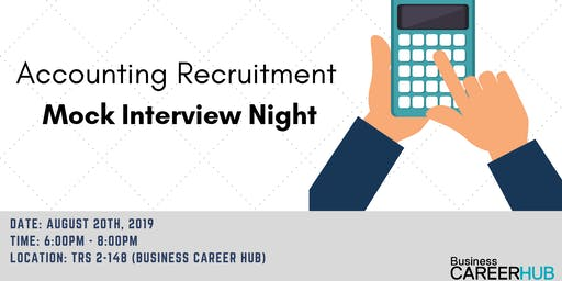 Accounting Recruitment Mock Interview Night