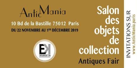 AnticMania – Le Salon des Objets de Collection billets