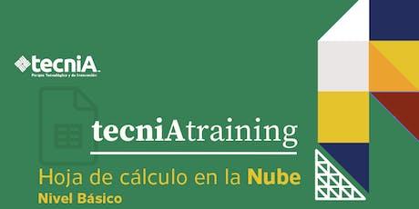 tecniA training | Hoja de cálculo en la Nube boletos