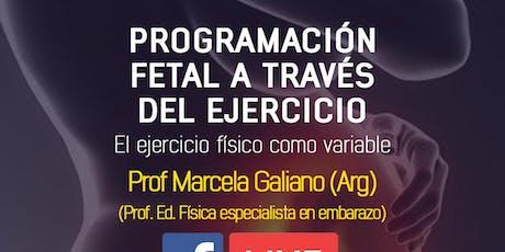 Charla Programación Fetal a través del ejercicio físico (ONLINE) entradas