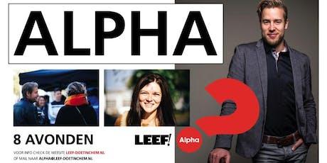 Alpha September 2019 Leef! Doetinchem tickets