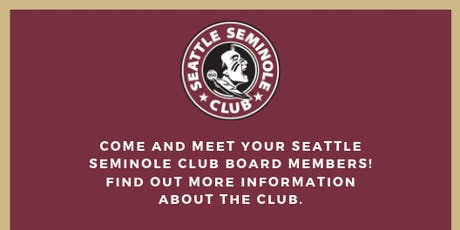 Seattle Seminole Club - Meet and Greet (South Lake Union) tickets