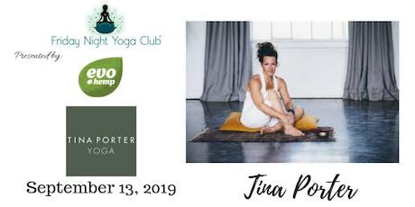 9/13- FNYC Special 2019/20 Season Opening Night at Tina Porter Yoga!  tickets
