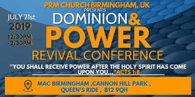 DOMINION AND POWER REVIVAL CONFERENCE