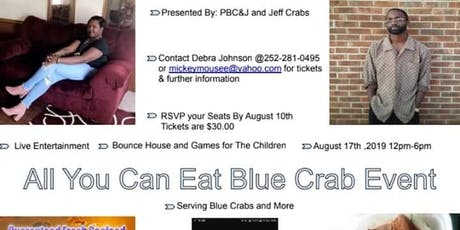 PBCJ.LLC PRESENTS ALL YOU CAN EAT BLUE CRAB tickets