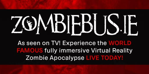 Zombie Bus® As seen on TV! Experience the WORLD FAMOUS fully immersive Virtual Reality Zombie Apocalypse LIVE!