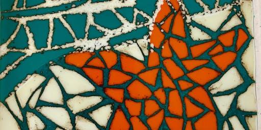 mosaic fused glass starfish  class