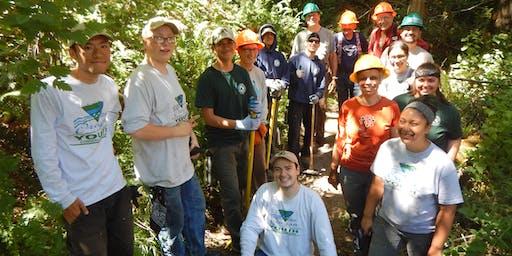 McIver Trail Party - Trail maintenance