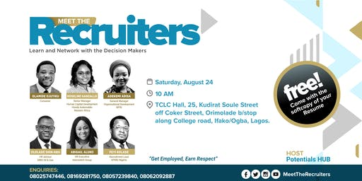 MEET THE RECRUITERS...(Learn and Network with the Decision Makers)
