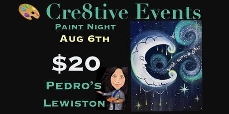 $15 Super fun paint night at Pedro's in Lewiston tickets