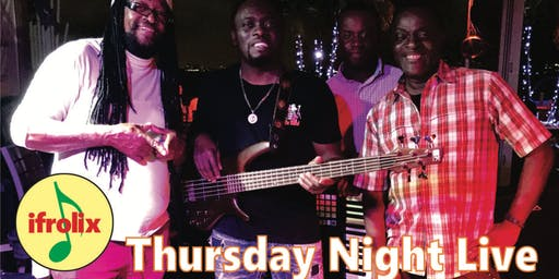Thursday night live, reggae music by the ifrolix band, Fort Lauderdale