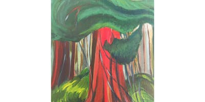 Red Cedar by Emily Carr Paint & Sip Night - Art Painting, Drink & Food