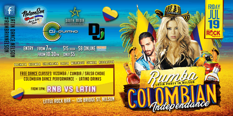 RUMBA - Latin Party Nelson * Colombian Independance tickets
