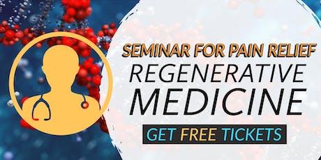 FREE Regenerative Medicine & Stem Cell for Pain Lunch/Dinner Seminar - Plano, TX tickets
