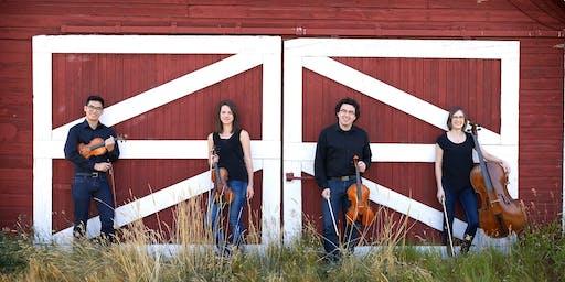Crimson String Quartet performs in Burdett