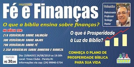 Palestra fé e finanças  ingressos