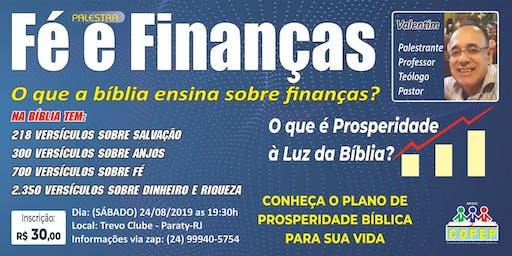 Palestra fé e finanças