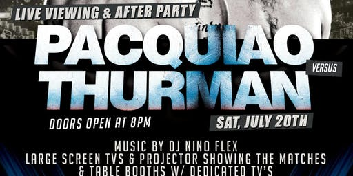 7/20: Manny Pacquiao Vs. Keith Thurman Boxing Match Viewing @ Carragher's
