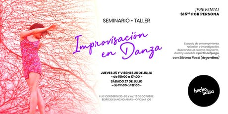 Seminario de Improvización en Danza entradas