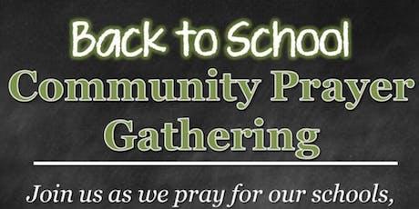 Back to School Prayer  tickets