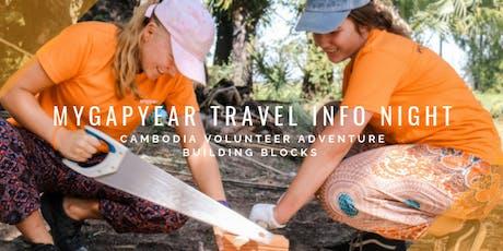 MyGapYear Info Night AUG 19 // Volunteer Adventure Cambodia tickets