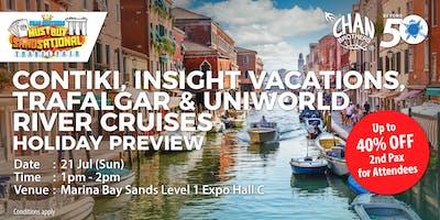 Contiki, Insight Vacations, Trafalgar & Uniworld River Cruises Holiday Preview