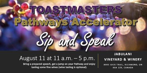 Toastmasters Pathways Accelerator: Sip & Speak