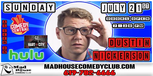 Comedian  Dustin Nickerson as seen on Comedy Central, HULU and more!