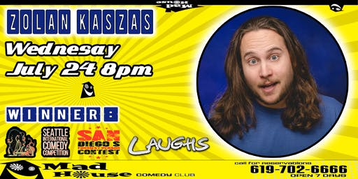 Comedian Zoltan Kaszas, Winner - San Diego's Funniest Person Contest!