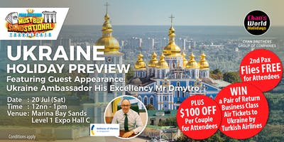 Ukraine Holiday Preview Featuring Guest Appearance: Ukraine Ambassador His Excellency Mr Dmytro Senik