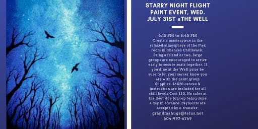 Starry Night Flight Paint Event