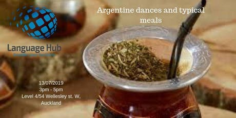 Argentine dances and typical meals tickets