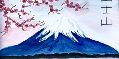 Fuji Mountain - Watercolour class in Richmond (Dine in)